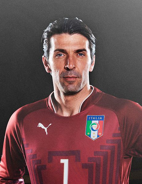 Gianluigi Buffon. Photo author: Puma. Source:  mynewsdesk.com  (cropped).  License link .