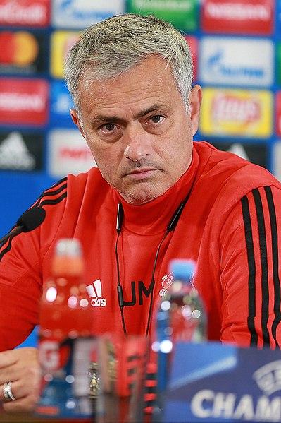 Jose Mourinho. Photo Author: Дмитрий Голубович.  License link .