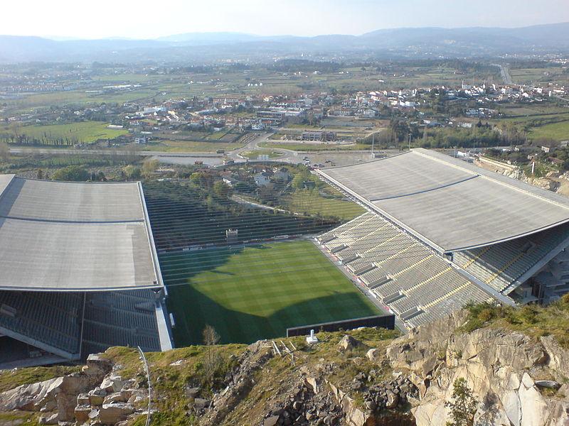 Braga stadium. Photo author:  Eduardo Souto de Moura .  License link .