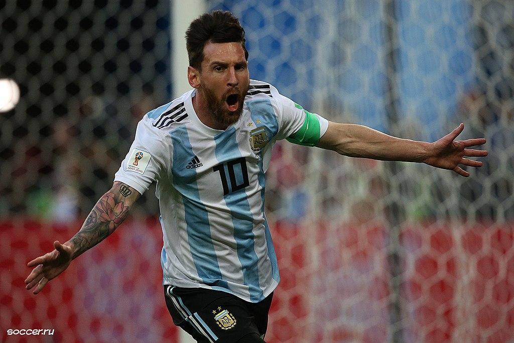 Lionel Messi. Photo author: Кирилл Венедиктов.  License link .