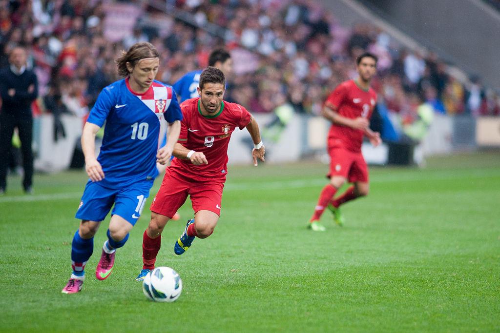 Joao Moutinho representing Portugal vs Croatia. Photo author:  Fanny Schertzer .  License link .
