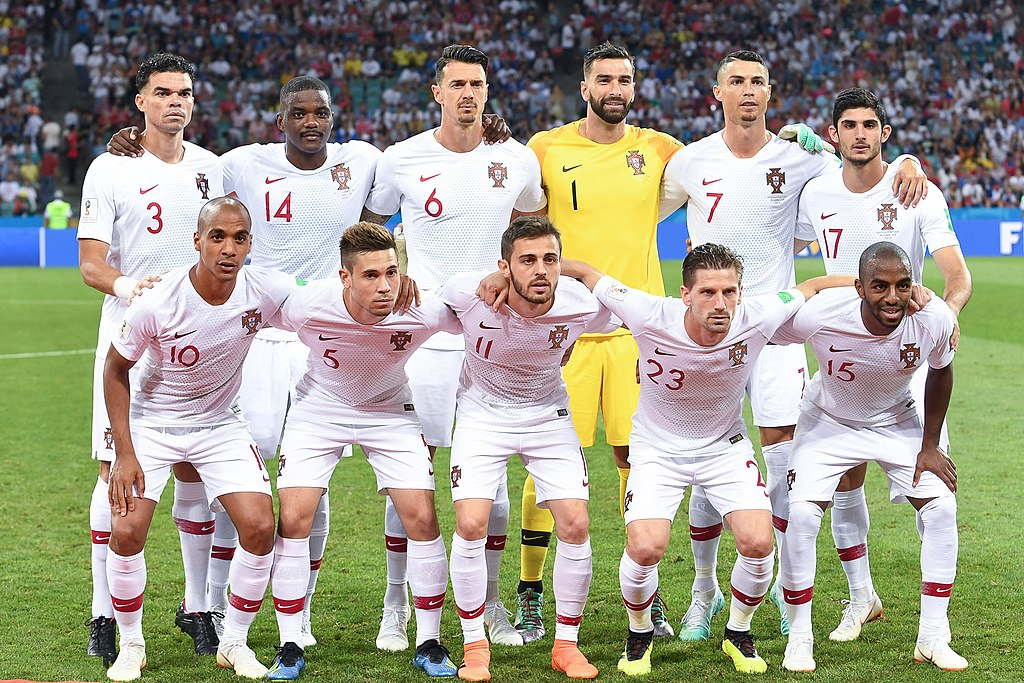 Portugal squad at the 2018 World Cup. Photo author: Анна Нэсси.  License link.