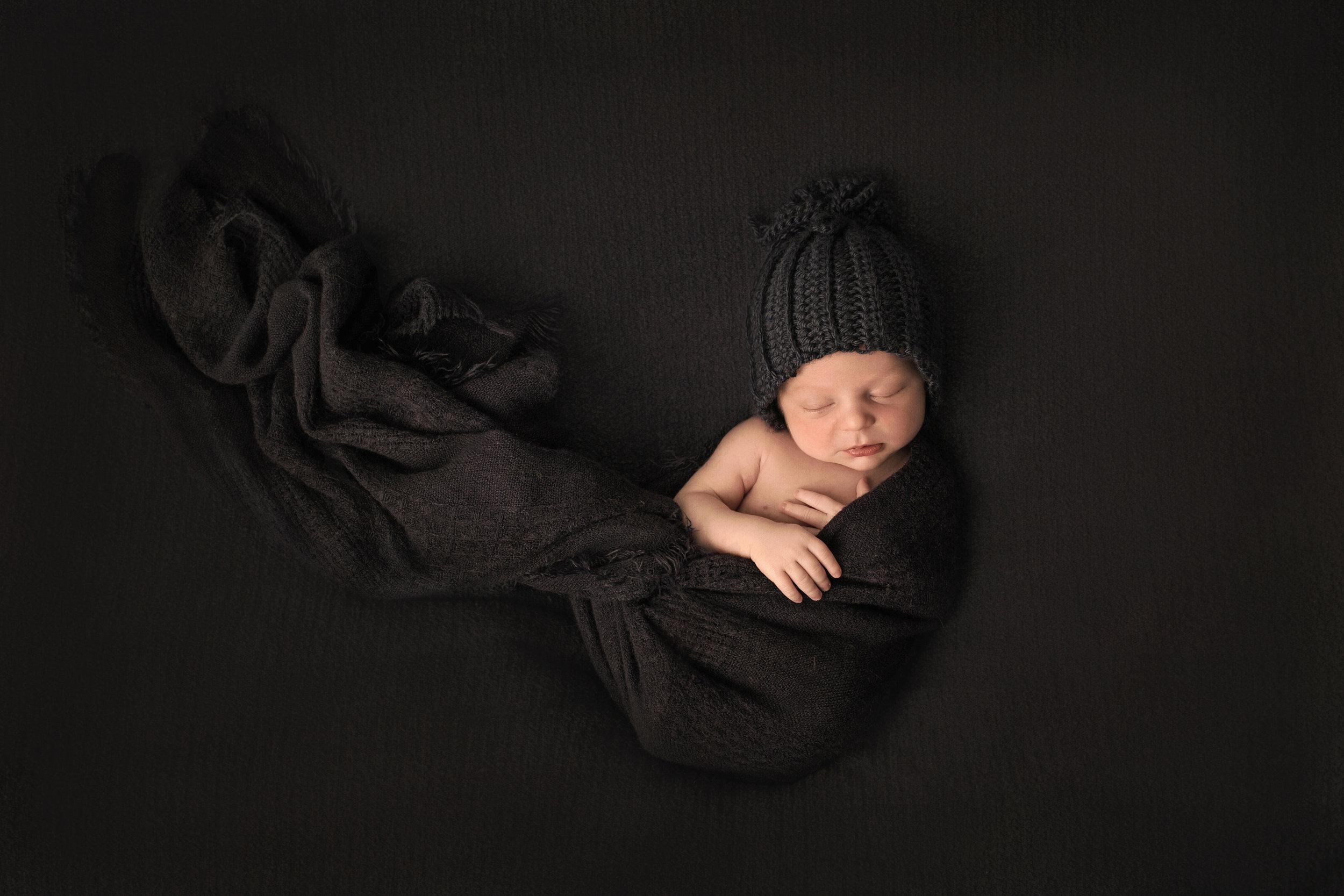 newborn boy charcoal wrap.jpg