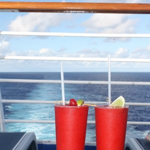 Strawberry Daiquiris on ship