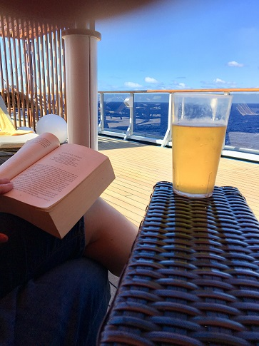 Drink and book on Carnival Legend Serenity