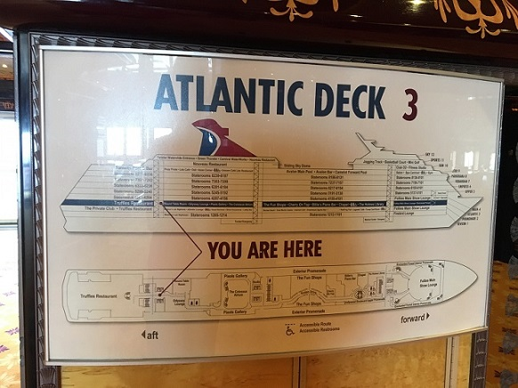 Carnival Legend Ship Map
