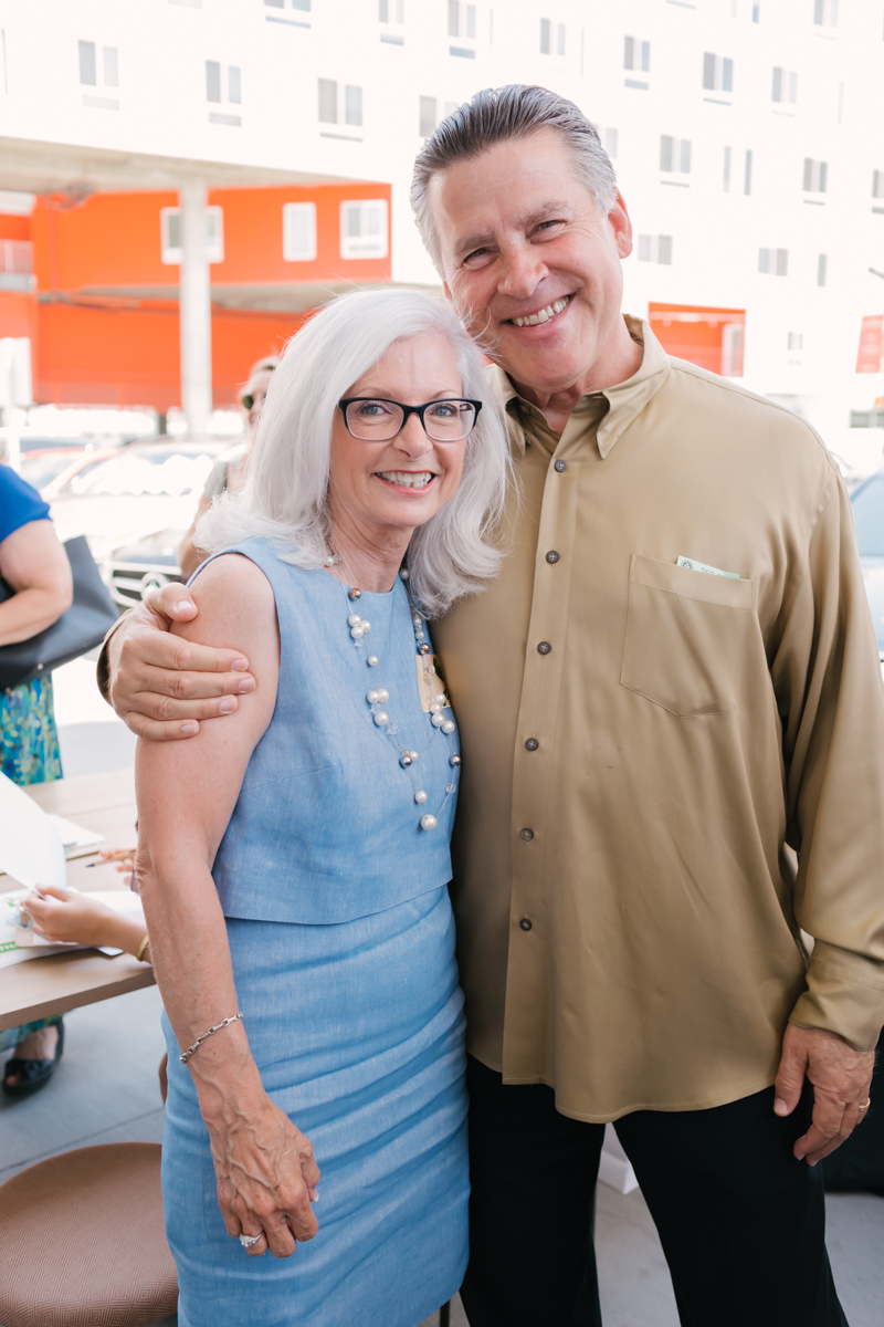 Peggy Kelley from  Timeless Celebrations  and Rev. Clint Hufft  at the  Prepaired  wedding vendor event at  Café Gratitude .