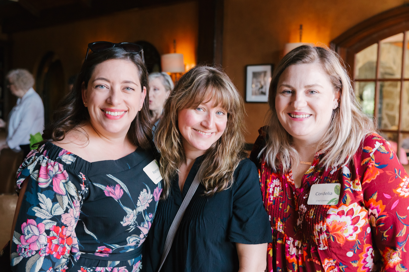 Renee from  Moxie Bright Event  with Valerie and Cordelia from  Chef Cordelia  at the  Prepaired  wedding vendor event at  Stonehaus .