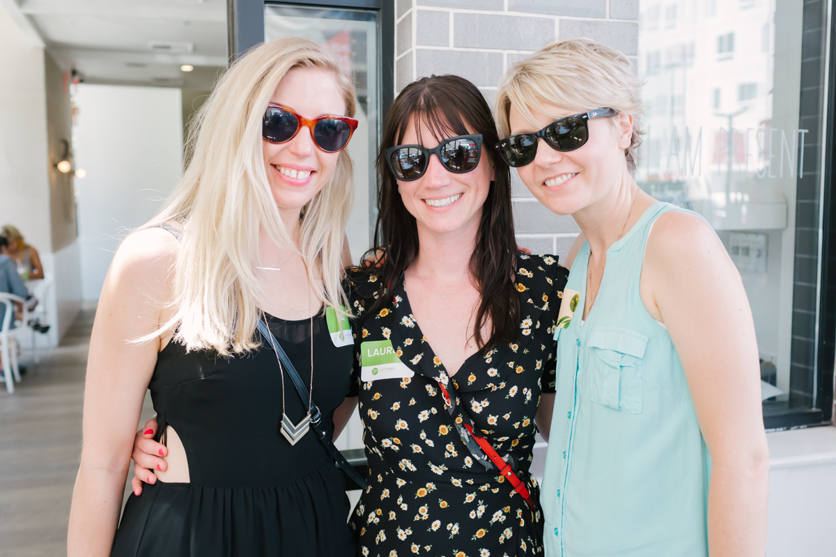 Liz & Lauren from  Prepaired Weddings  with  Tahni Smith Makeup Artist    at the  Prepaired  wedding vendor event at  Café Gratitude .