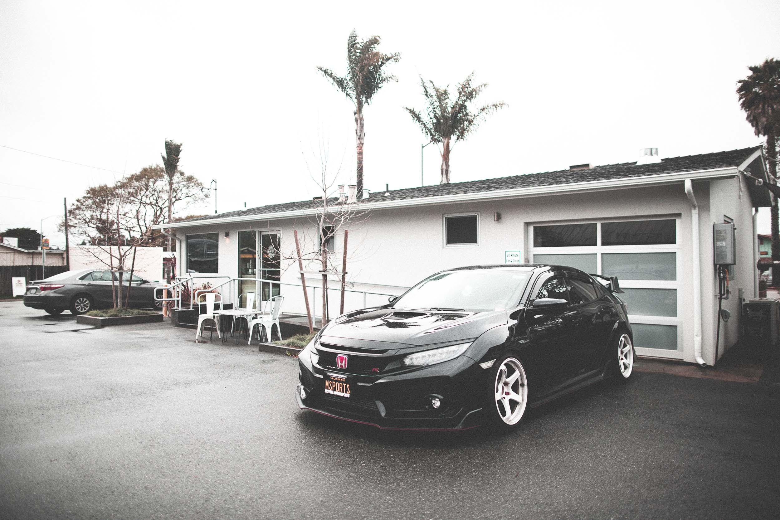 Our FK8 civic Type R Sitting on some Advan GT (18x9.5) in Racing White