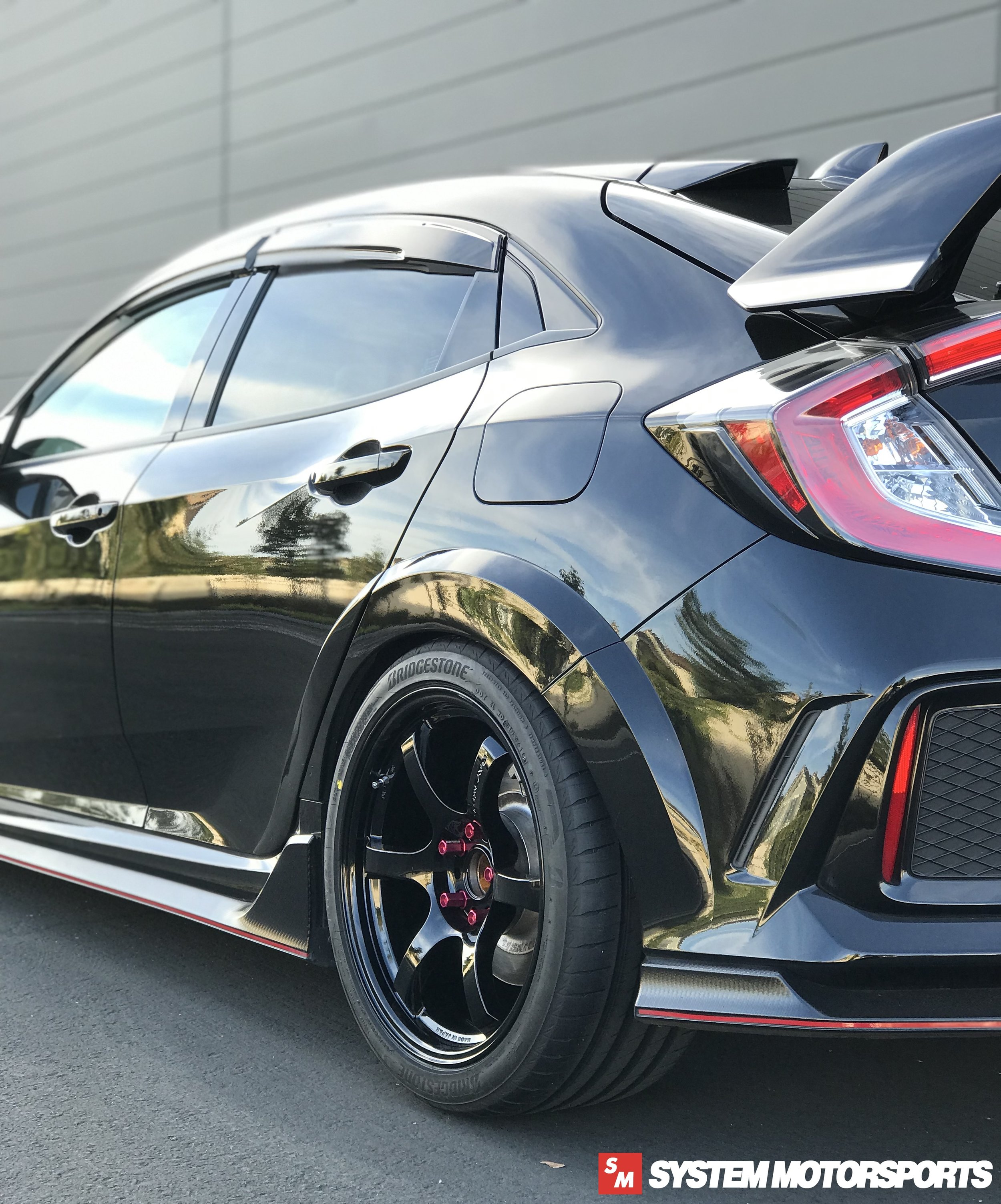 System Motorsports FK8 Civic Type R on Rays Gramlights 57DR 18x9.5 +38 5x120 in Glossy Black!