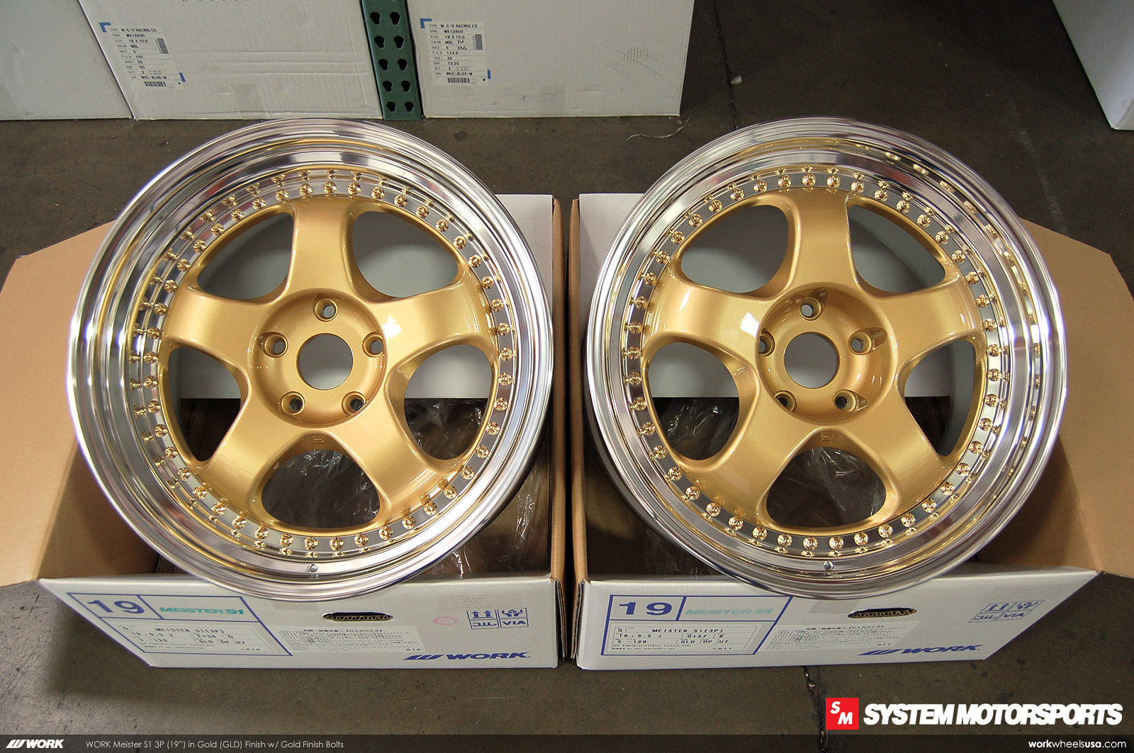 Work Meister S1 3P in a custom (GLD) Gold Face Finish w/ Gold Hardware