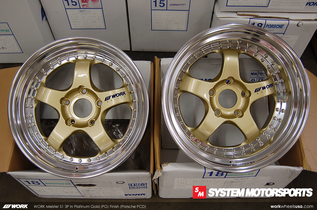 Work Meister S1 3P in a custom Platinum Gold (PG) Finish w/ Silver Hardware