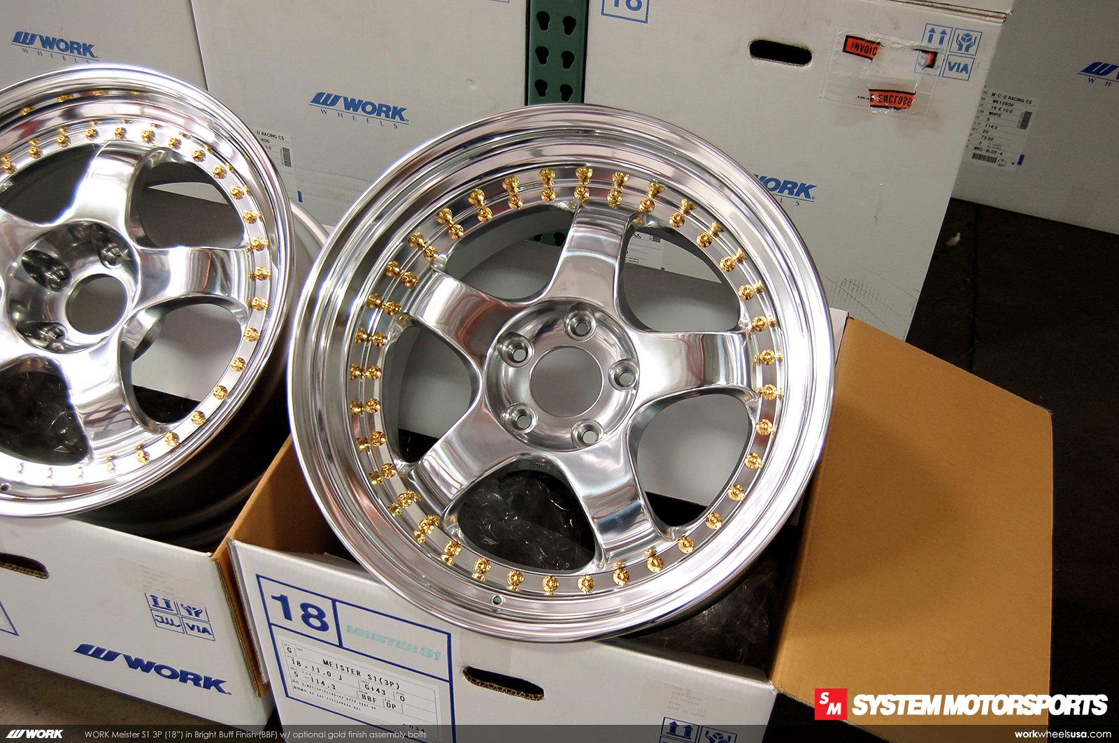 Work Meister S1 3P in Bright Buff Finish (BBF) Full Polish Custom Face Finish + Gold Hardware