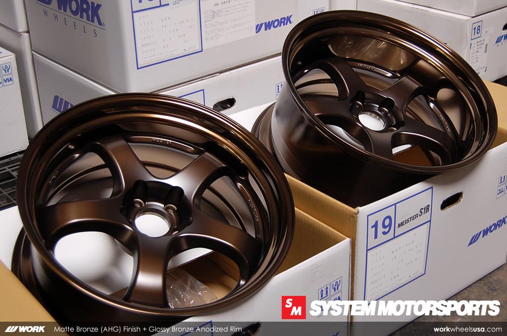 Custom Gloss Bronze Barrel/Lip Finish - Work Meister S1R