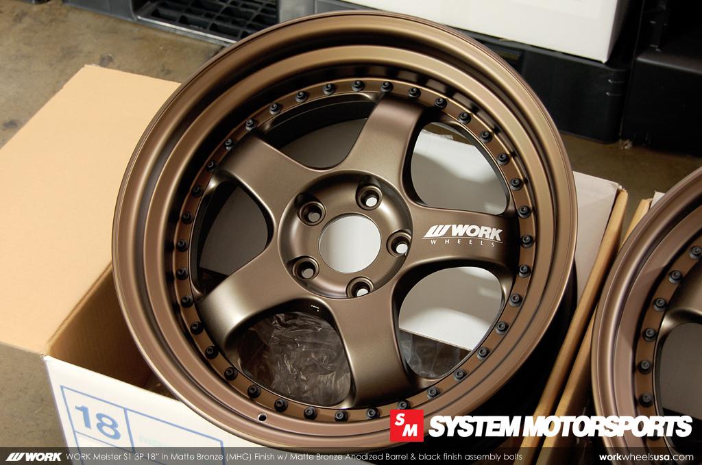 Custom Matte Bronze Barrel/Lip Finish - Work Meister S1 3P