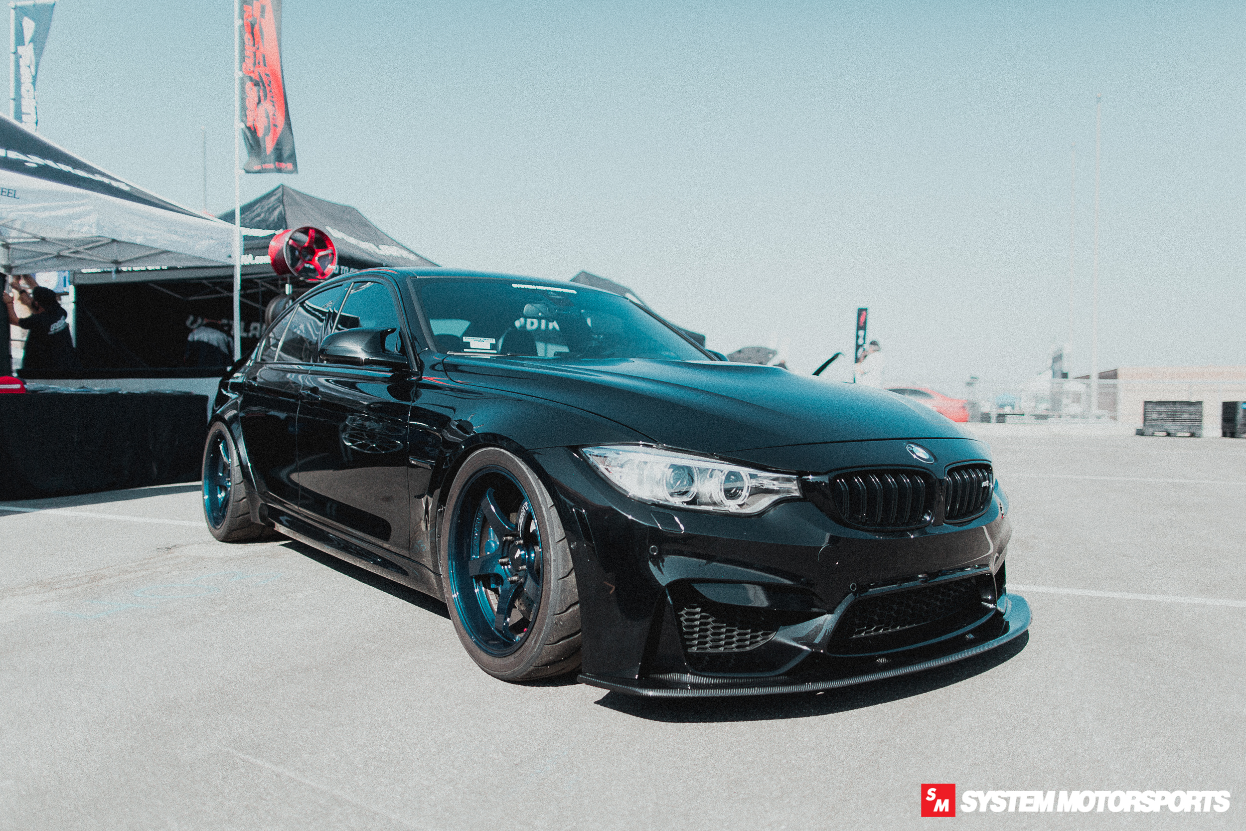 System Motorsports F80 M3 on Yokohama Advan GT Premium in Racing Titanium Blue at Bimmerfest 2019