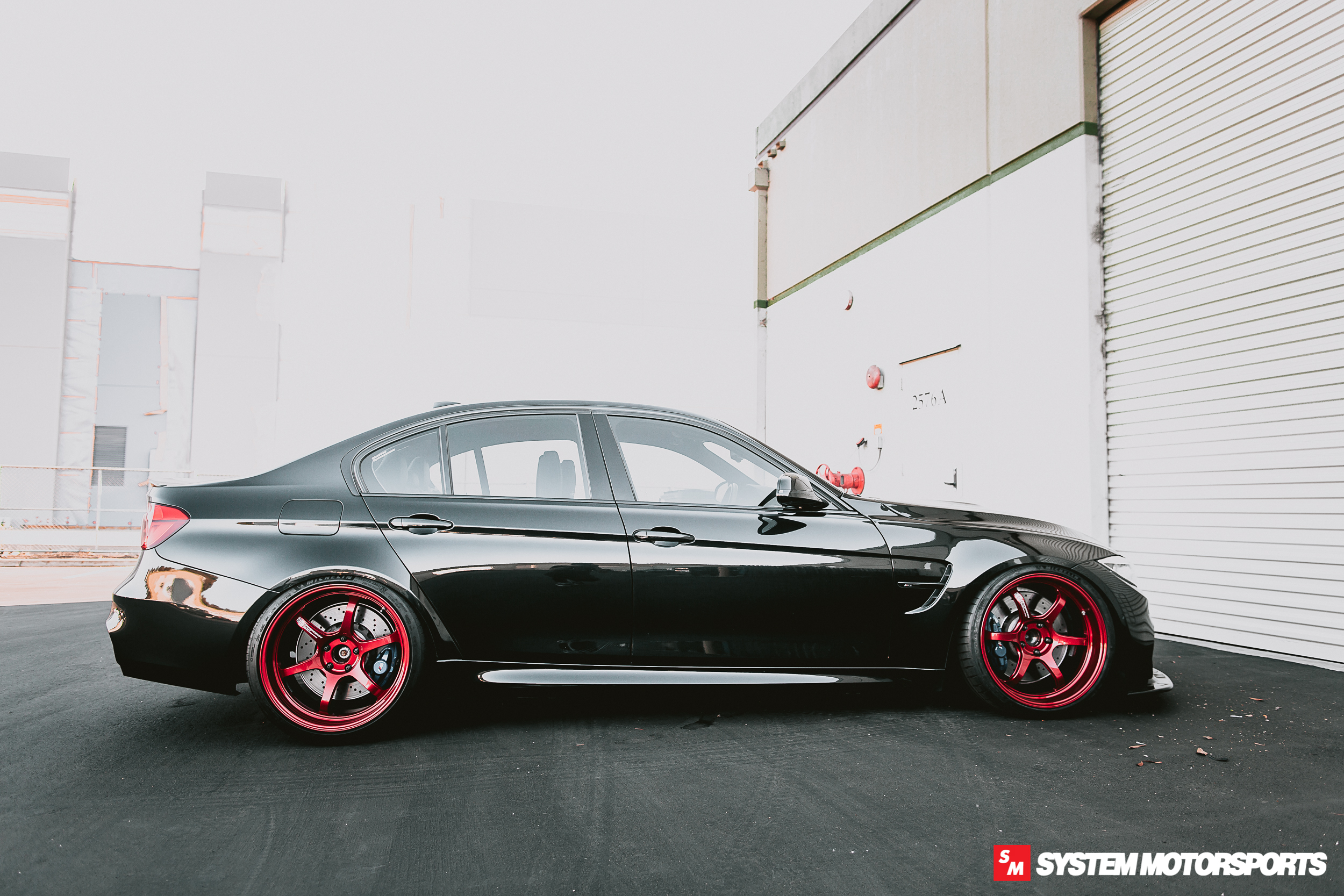 Forged Yokohama Advan R6 in Racing Candy Red, mounted up on our System Motorsports F80 M3!