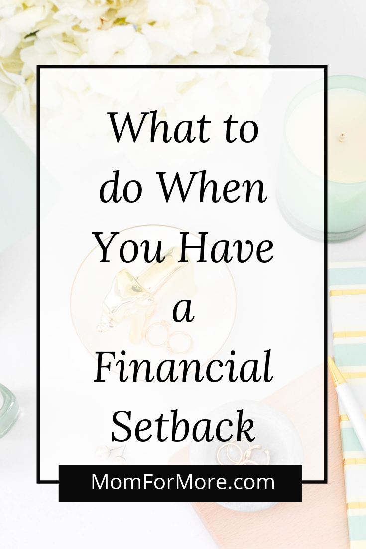 What to do When You Have a Financial Setback