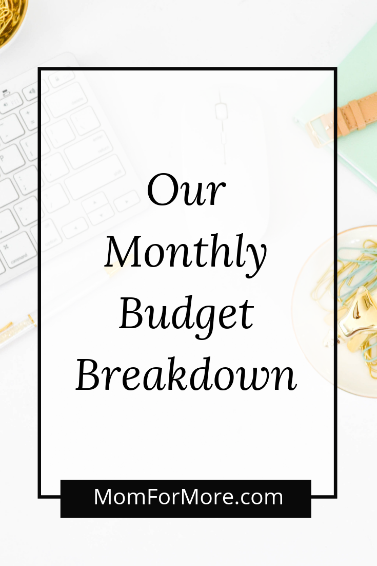our monthly budget breakdown