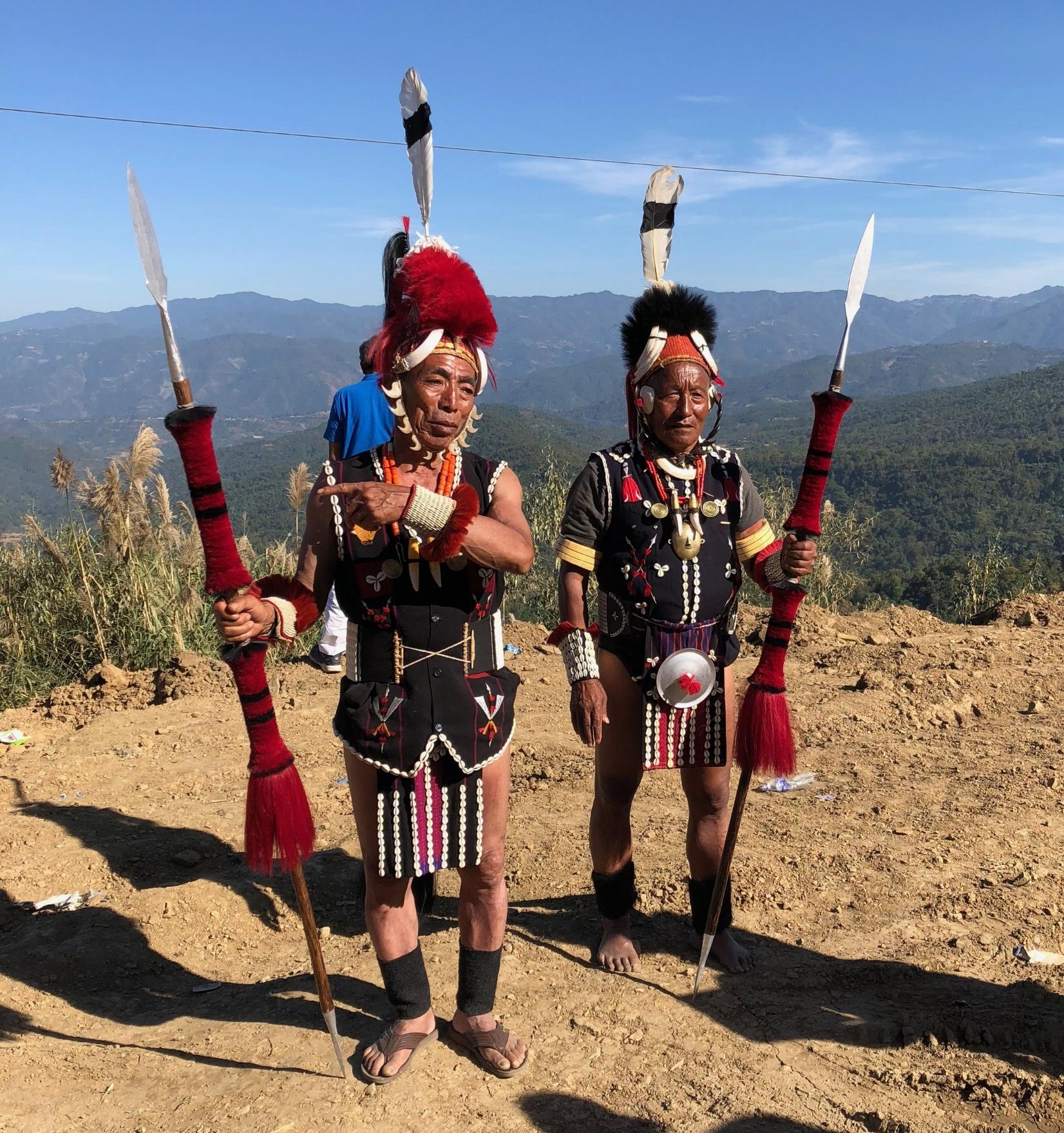 Traditional Naga dress.