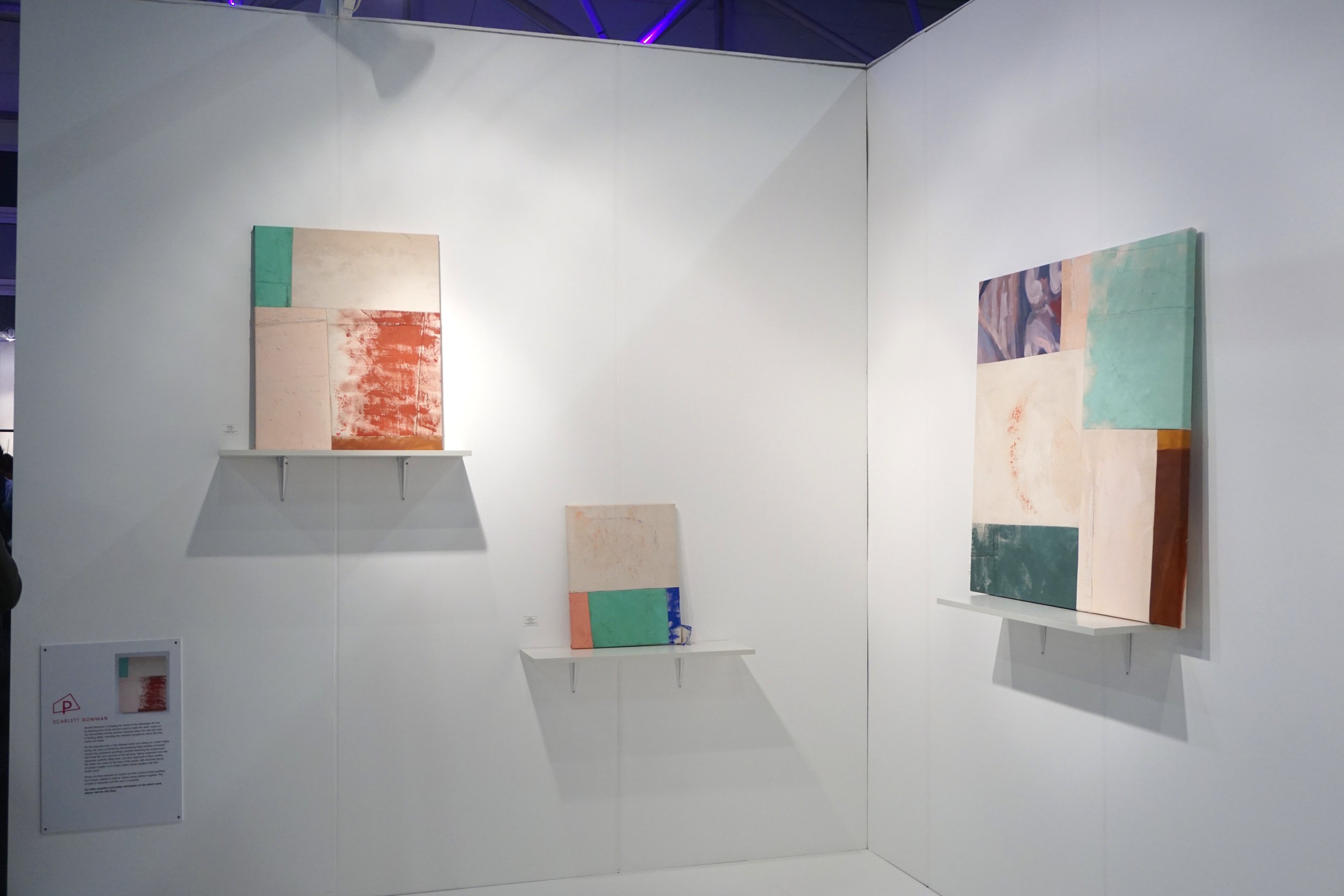 Patchwork painting  'Platform Projects' Curated by Becca Pelly-Fry Affordable Art Fair Battersea 2019