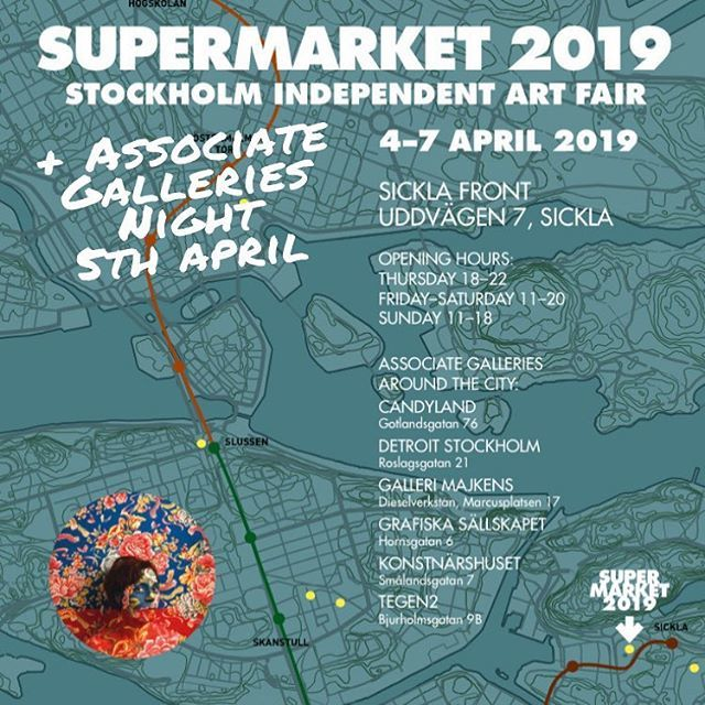 This year, Supermarket 2019 took place at Sickla Front, a week before the Stockholm Art Week  (Supermarket)