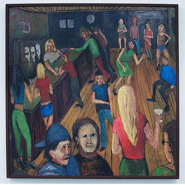 Don't miss @benwestleyclarke Upcoming Residency & show will start on the 9 JULY - 29 JULY @asylumstudiosuk 💥👌 Painting 'The Bar' (2014) by Ben Westley Clarke 😍  Absolutely love this painting! Pubs/Bars have changed over the years. What was once a public house open to people throughout the day, a place for 10am regulars, dog walkers, crossword enthusiasts, gamblers & the retired. Today's pub scene also includes the squad of corporate punters after 6pm, millennials squeezing their way with hopes of 3 quid tinnies & pub quiz enthusiasts. #londonpubs