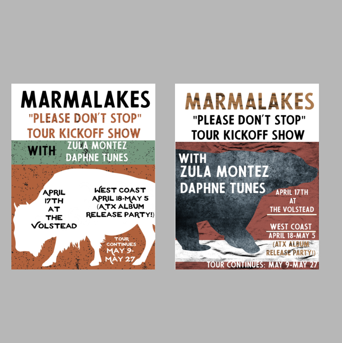 Poster Design for Austin Band, Marmalakes.