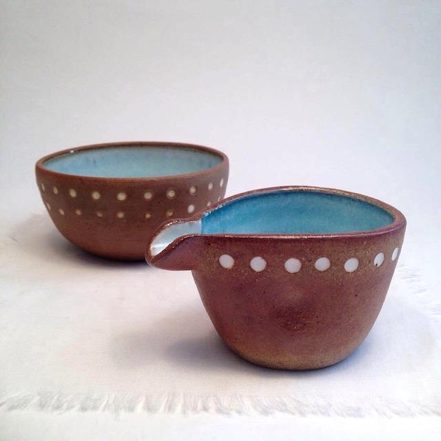 Lots of Dots - mini jug + bowl . suzi poland . Friday Sales #2