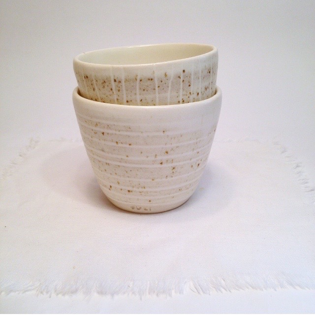Sand Stripe cups . suzi poland . Friday Sale #1 - SOLD