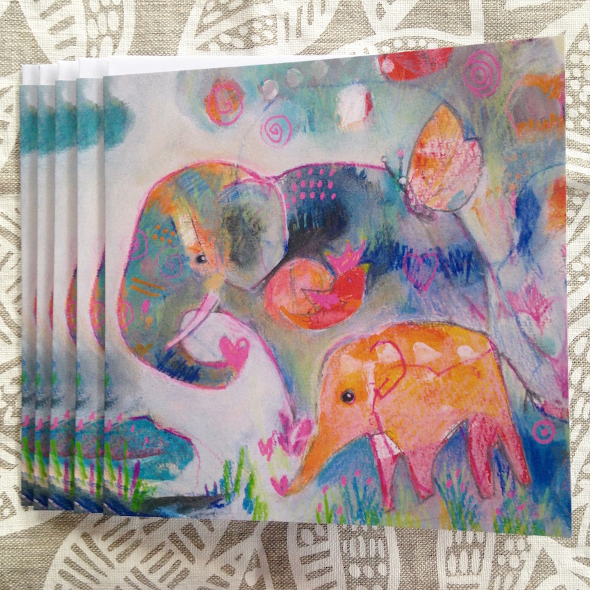 Elephant + Friends greeting cards by suzi poland sm.jpg
