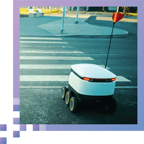 Reliable in Any Environment - WaveSense can direct sidewalk delivery robots without relying on pavement and sidewalk surface features, which are often obscured by pedestrians. It also solves the common issue of flaky GPS on sidewalks next to buildings.