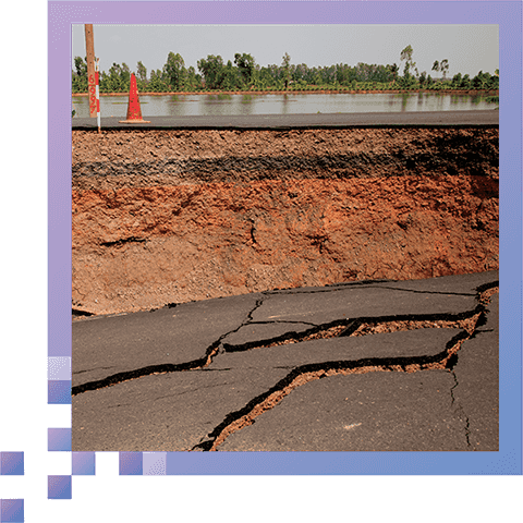Detect & Prevent Sinkholes - Find leaking water mains before they create sinkholes and erosion.