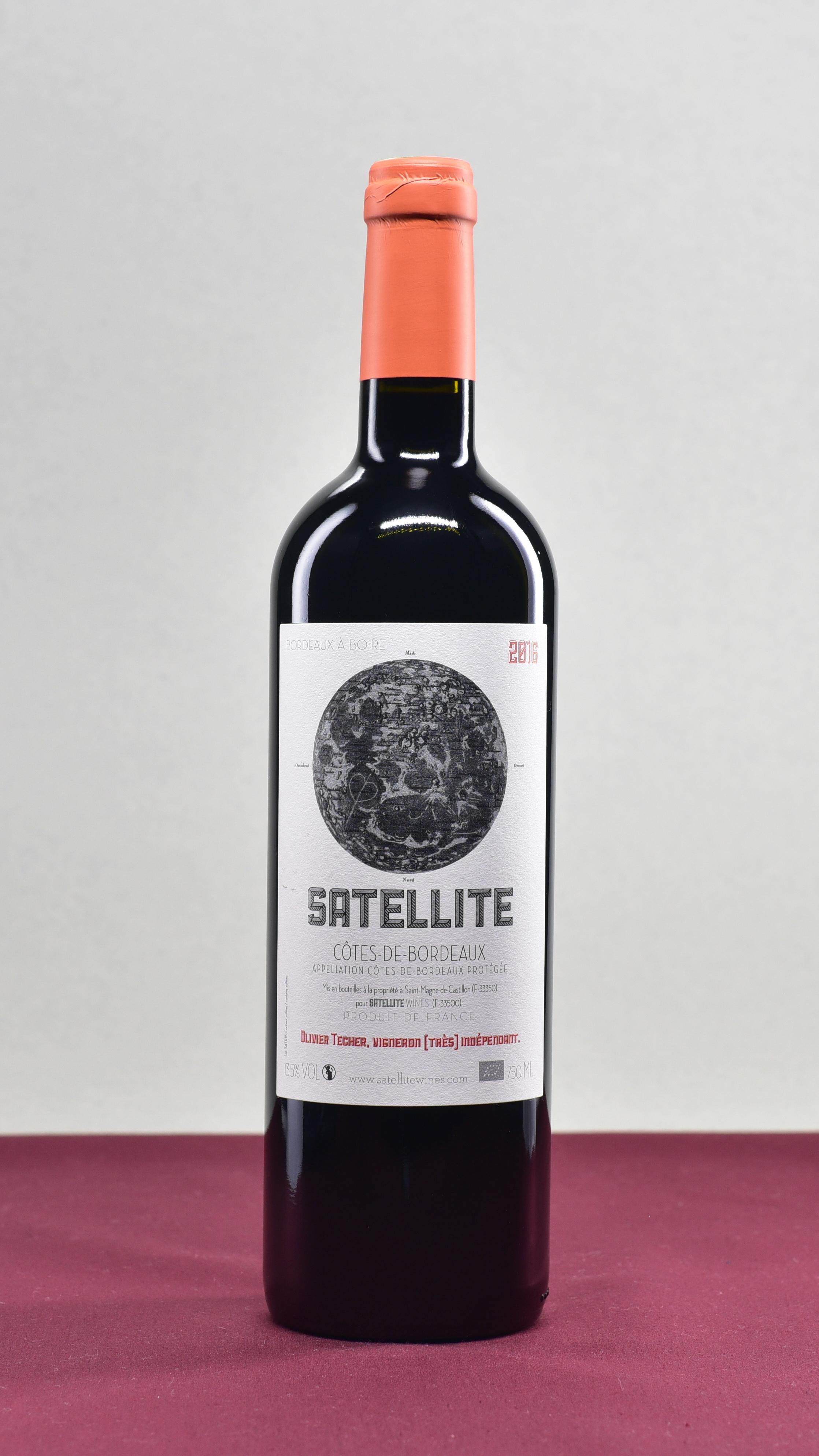 Satellite Rouge - Satellite Wines | Olivier TecherMerlotAOP Côtes-de-Bordeaux | 2016