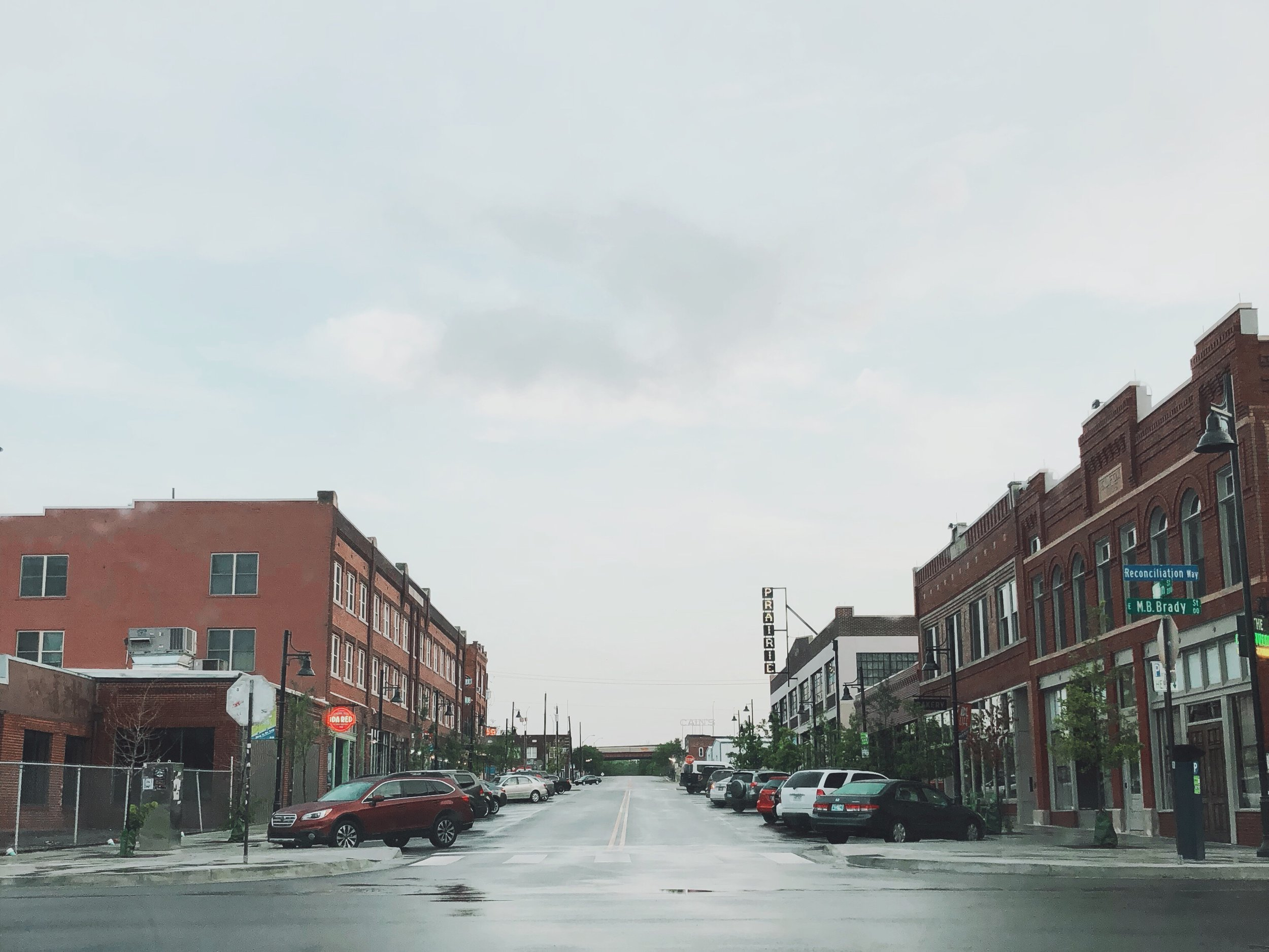 Didn't our neighbors to the north in the Tulsa Arts District look beautiful after the rains on Wednesday morning?