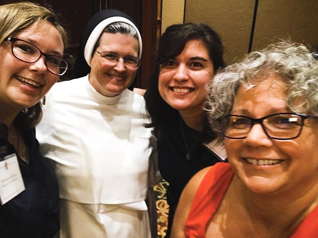 A large group of our staff attended this year's Catechetical Conference for the Diocese of Tulsa! They really enjoyed Sister Mary Madeline Todd's talk about how Christ transforms friendship, as well as the talks by Dr. Meloche, president of the Alcuin Institute, and Dr. Brown, dean of the Alcuin Institute and our curriculum advisor, about establishing real friendships and social media, respectively. From these pictures from Ms. Hansen, our 8th grade sponsor, it seems that they had the best time! What about you? Did you go to the conference? And if so, what did you enjoy or what impacted you the most? #welovehfcs #hfcsstaff @dioceseoftulsa @richard.s.meloche