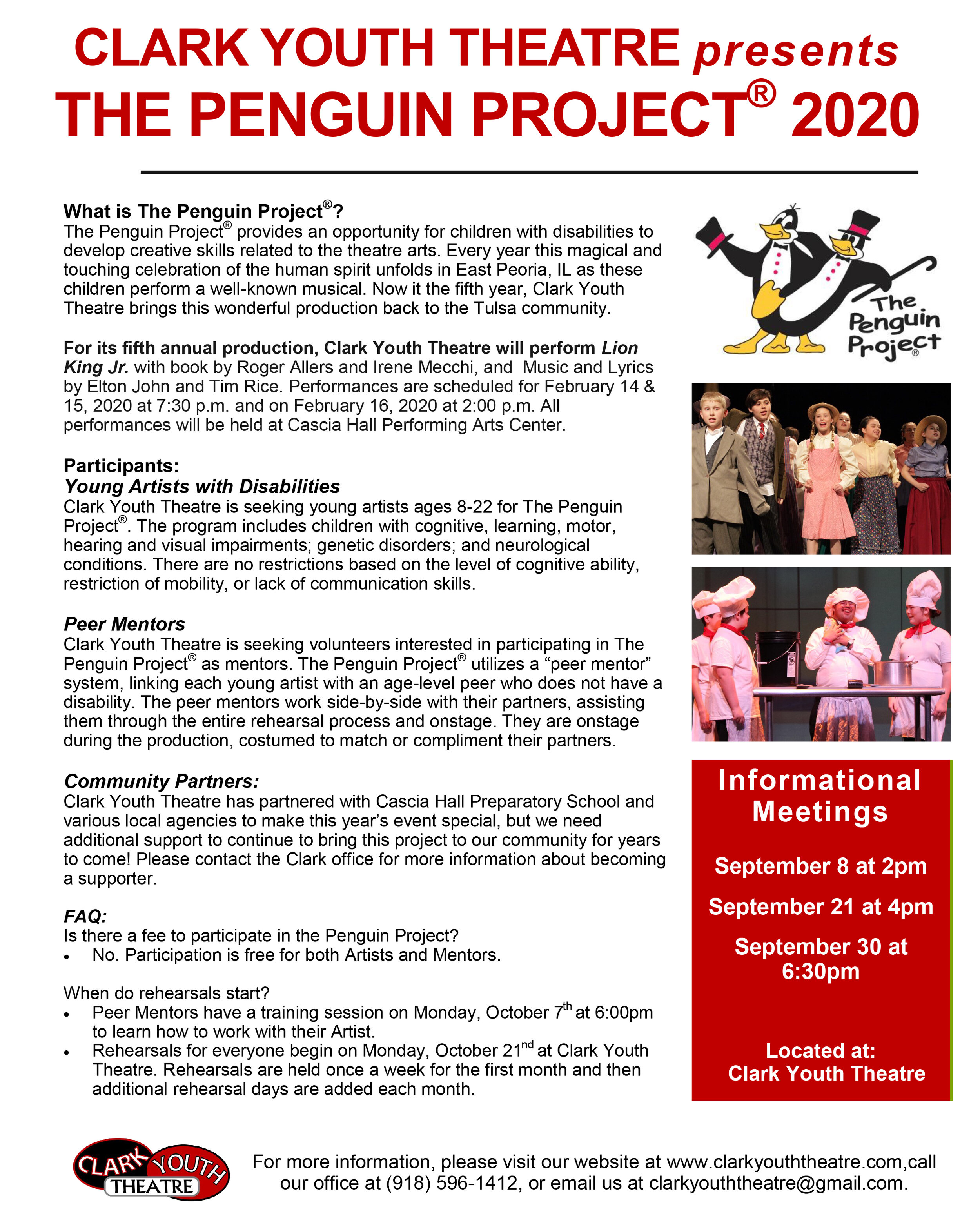 Clark Youth Theatre Penguin Project  Flyer 2020.jpg