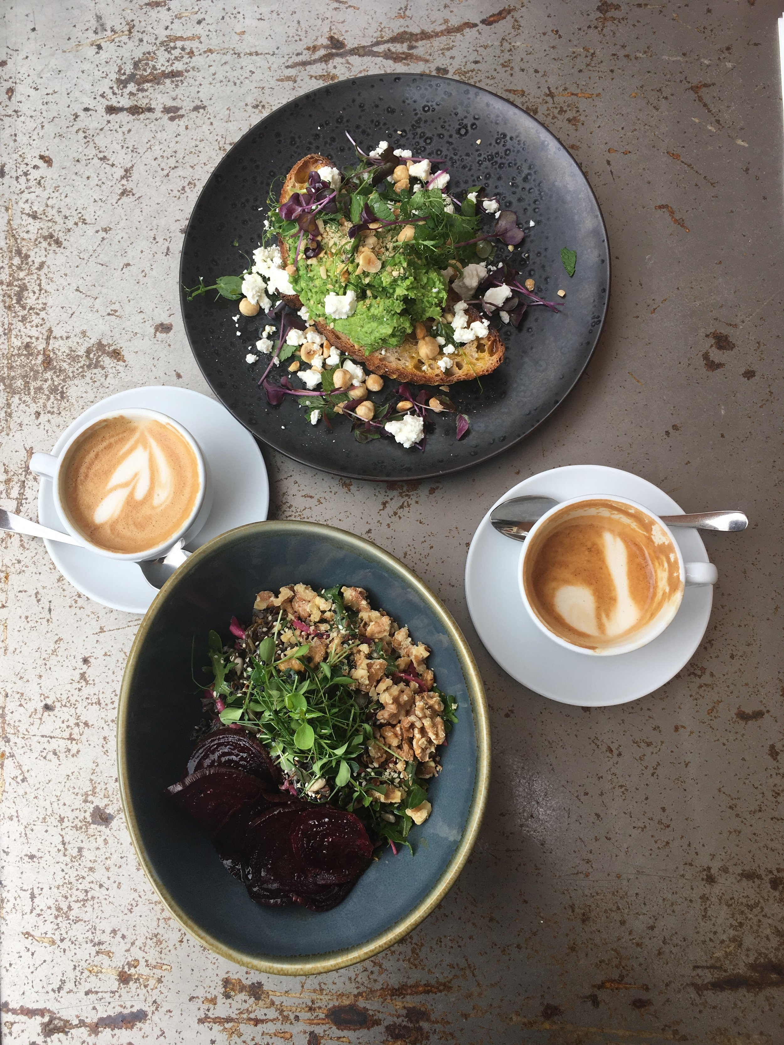 Flat whites and delicious healthy bowls at 19 Grams Berlin.