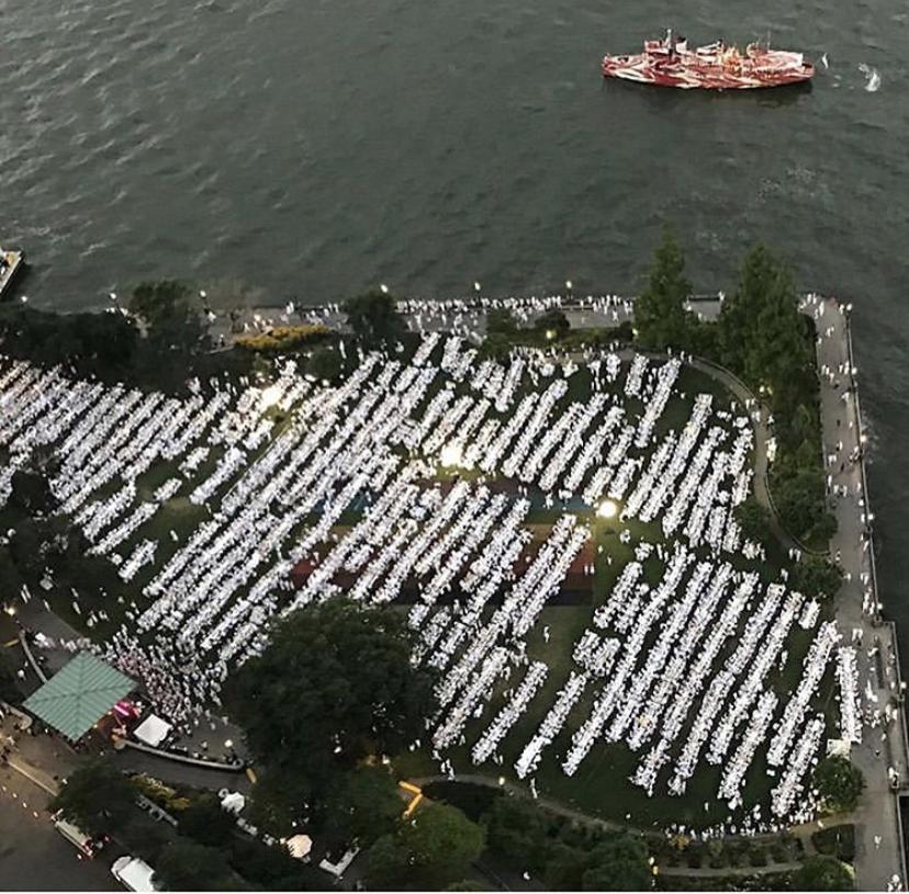 Aerial view of Nelson Rockefeller Park, Battery City.