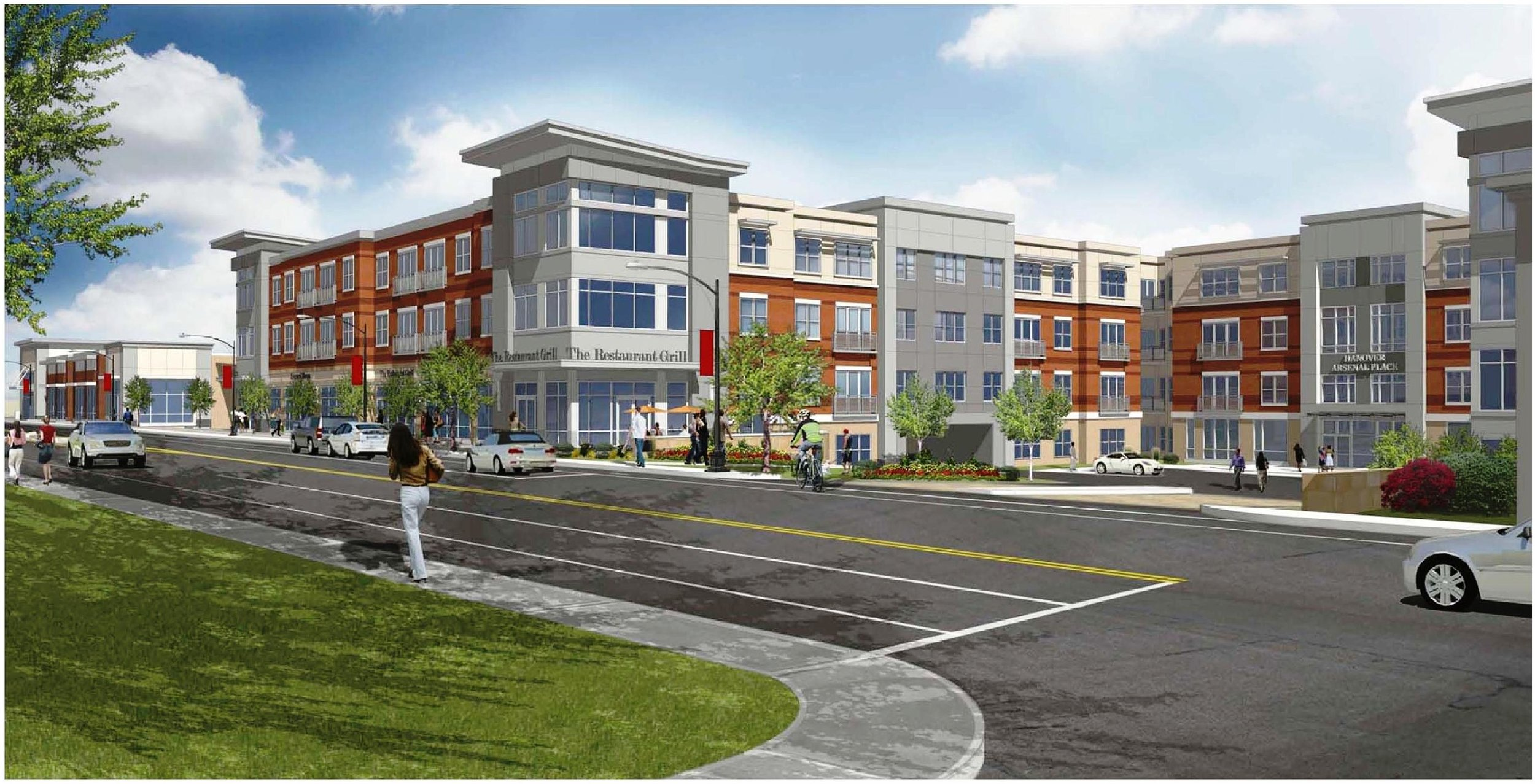 Arsenal Street Apartment and Retail Development - The project was permitted through the Town of Watertown for construction of approximately 300 apartment units, a 40,000 square foot supermarket, and 6,000 square feet of smaller retail space on Arsenal Street in Watertown, Massachusetts.  RMA prepared the Traffic Impact and Access Study as well as conceptual designs for the traffic mitigation necessitated by the project.