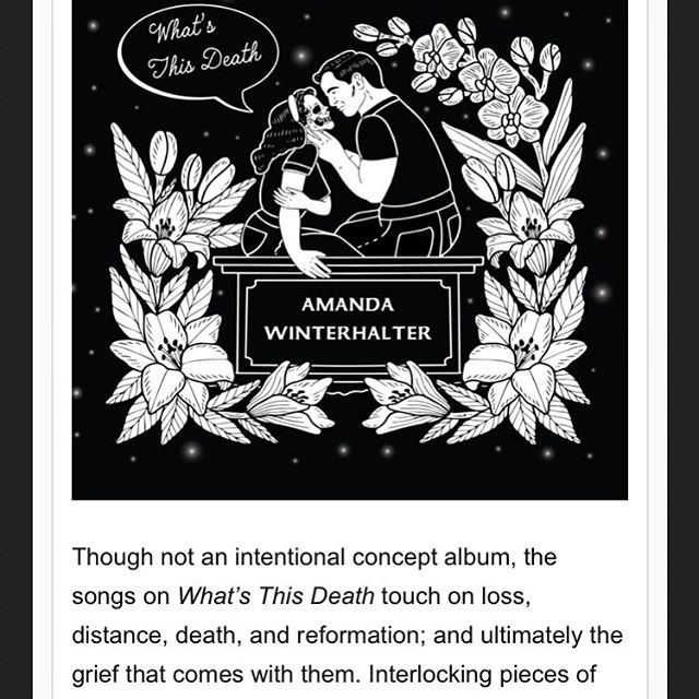Fatality Records curator @awinterhalter is releasing a record - What's This Death - and the title track is out today on @glidemag. Check it out!  https://glidemagazine.com/230059/gothic-americana-artist-amanda-winterhalter-showcases-awe-inspiring-vocal-talents-via-whats-this-death/