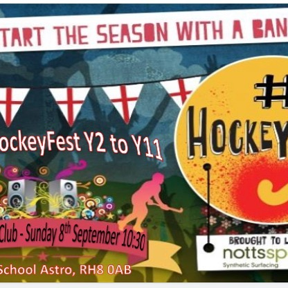 Our junior section is ready to rumble and kicks off the coming season with our HockeyFest on Sunday 8th September. 10:30 start @ Oxted HC. Past, present and new players welcome.