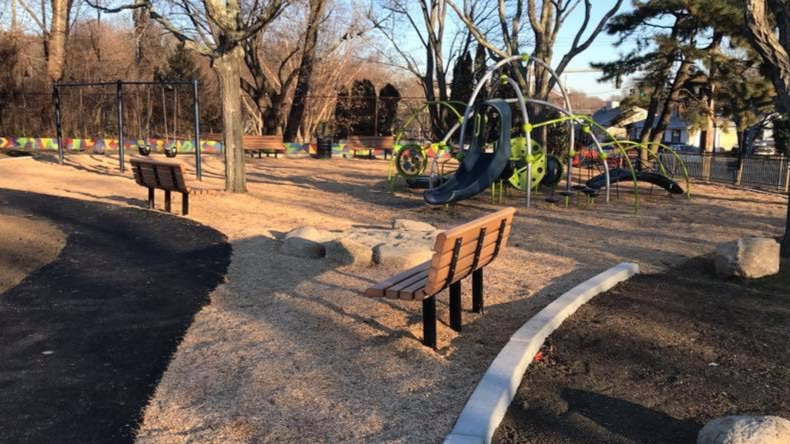 New path and playground equipment at Mt. Pleasant Park & Field