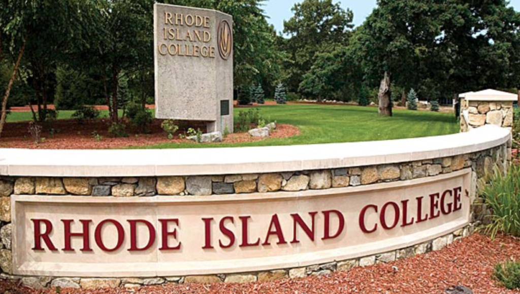 The Mt. Pleasant Avenue entrance to Rhode Island College