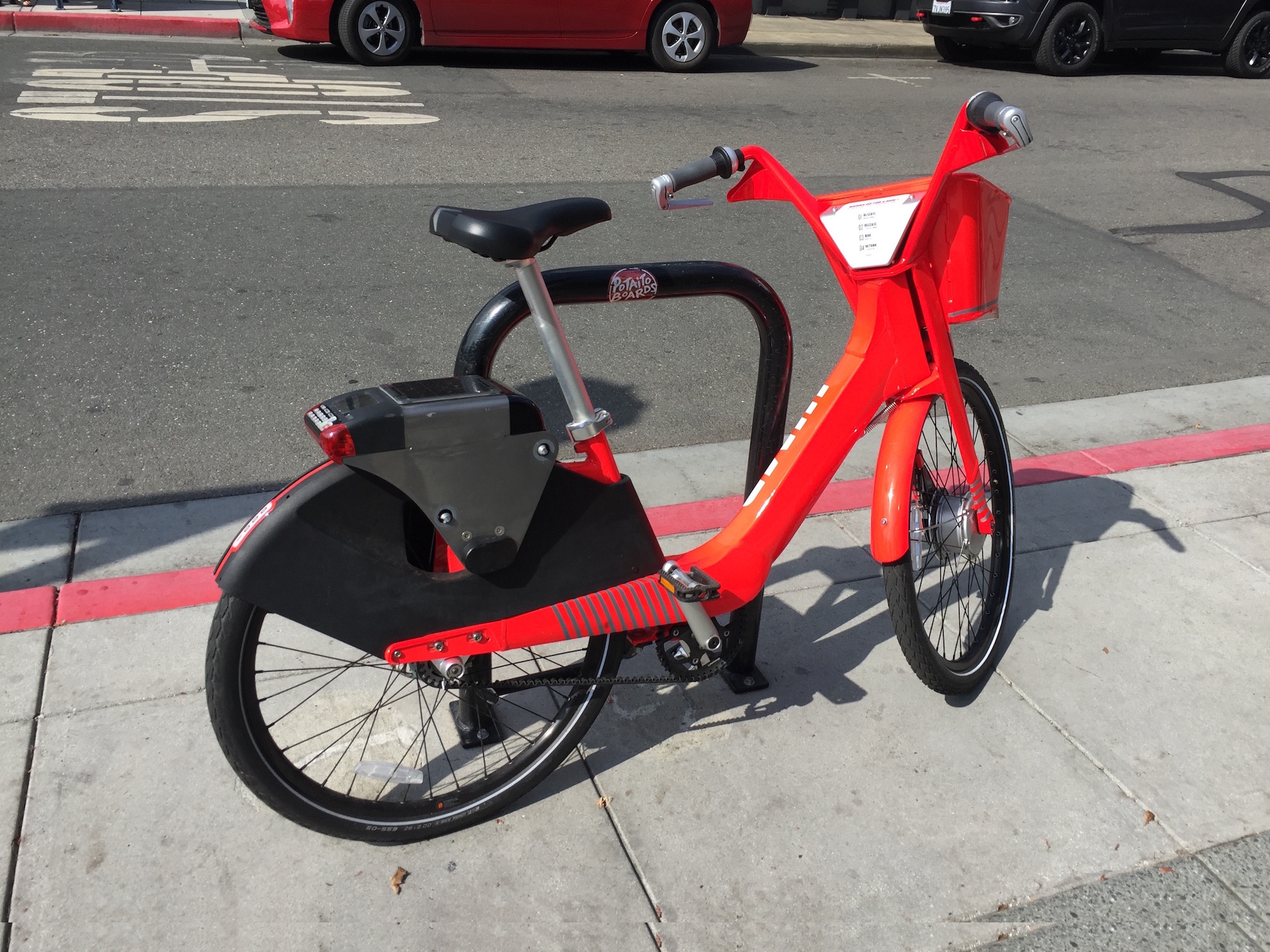The ubiquitous red bikes have been temporarily removed from city locations .