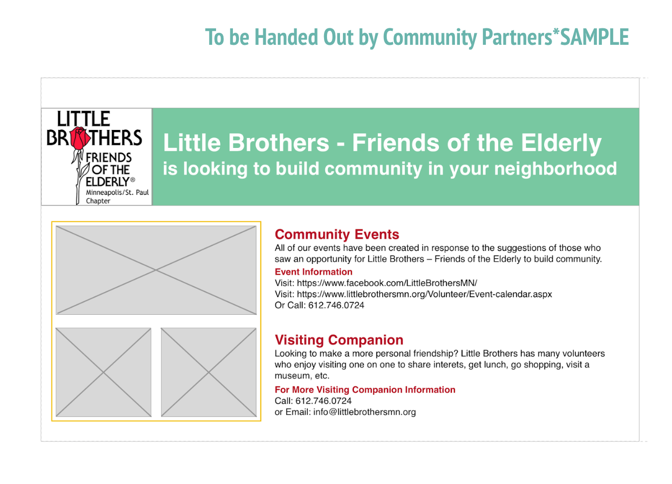 Flyer for partners to give to potential elders