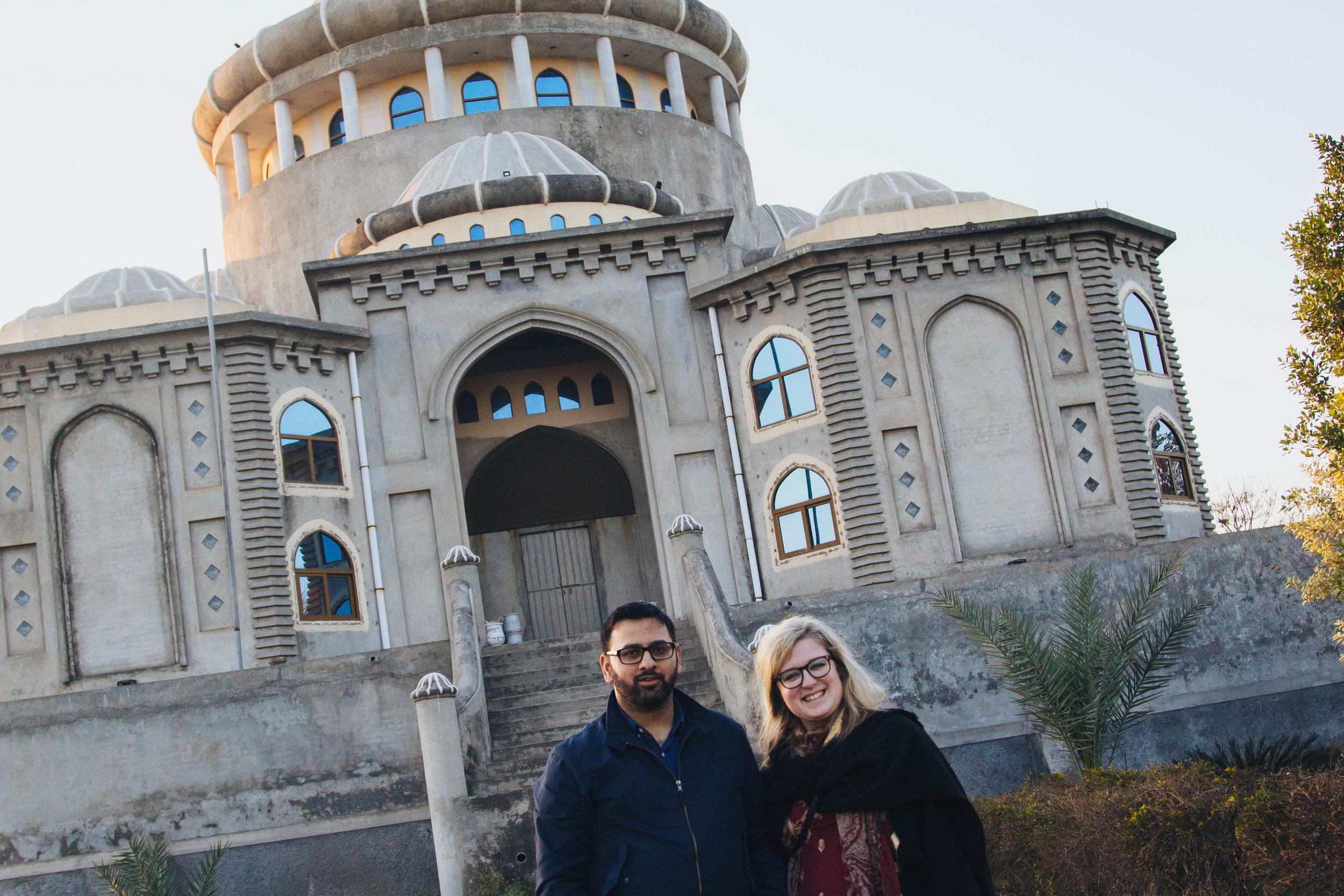 waji and i at akbar masjid, gujrat