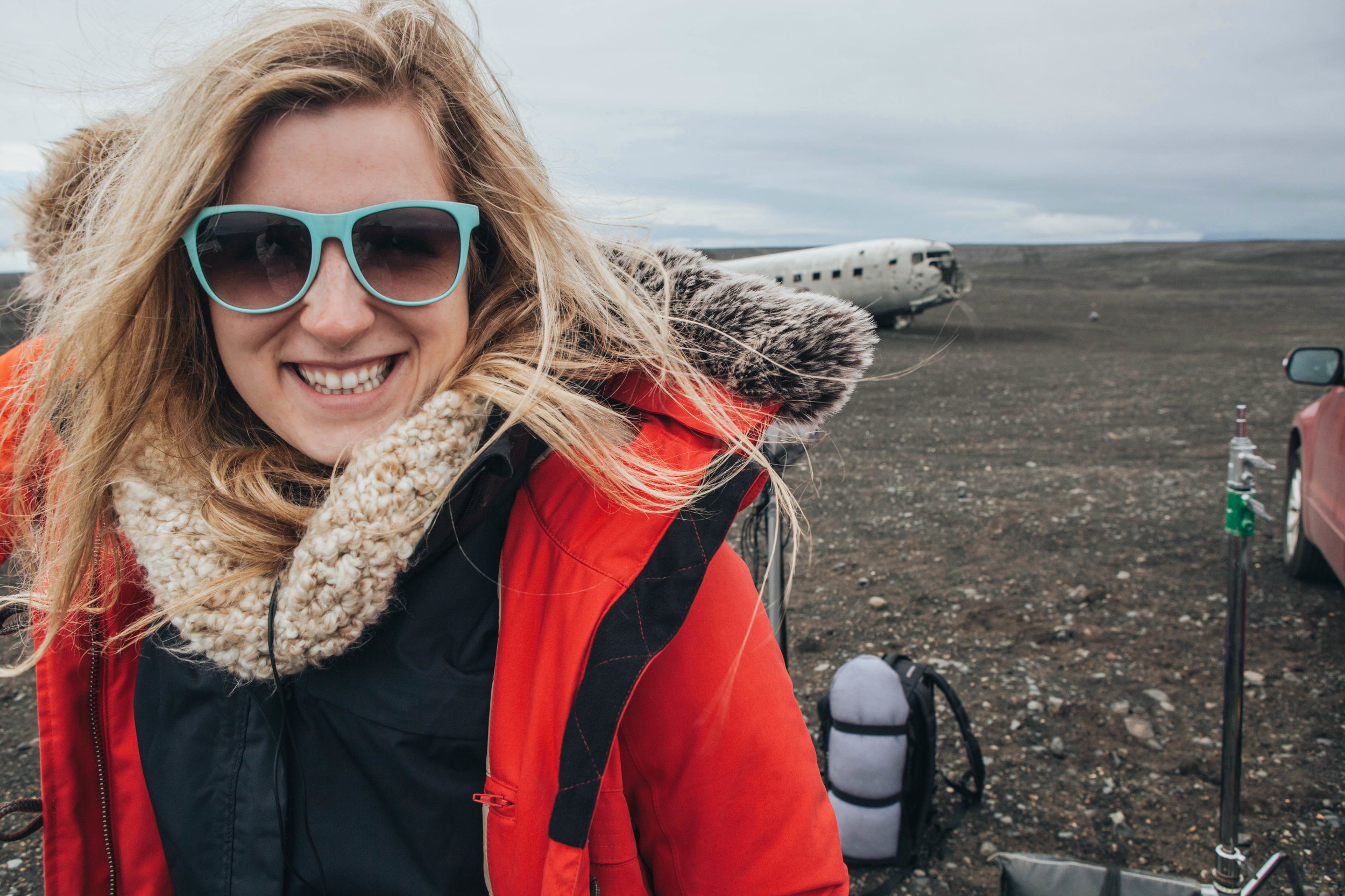 me, script supervisor. just happy to be in iceland.