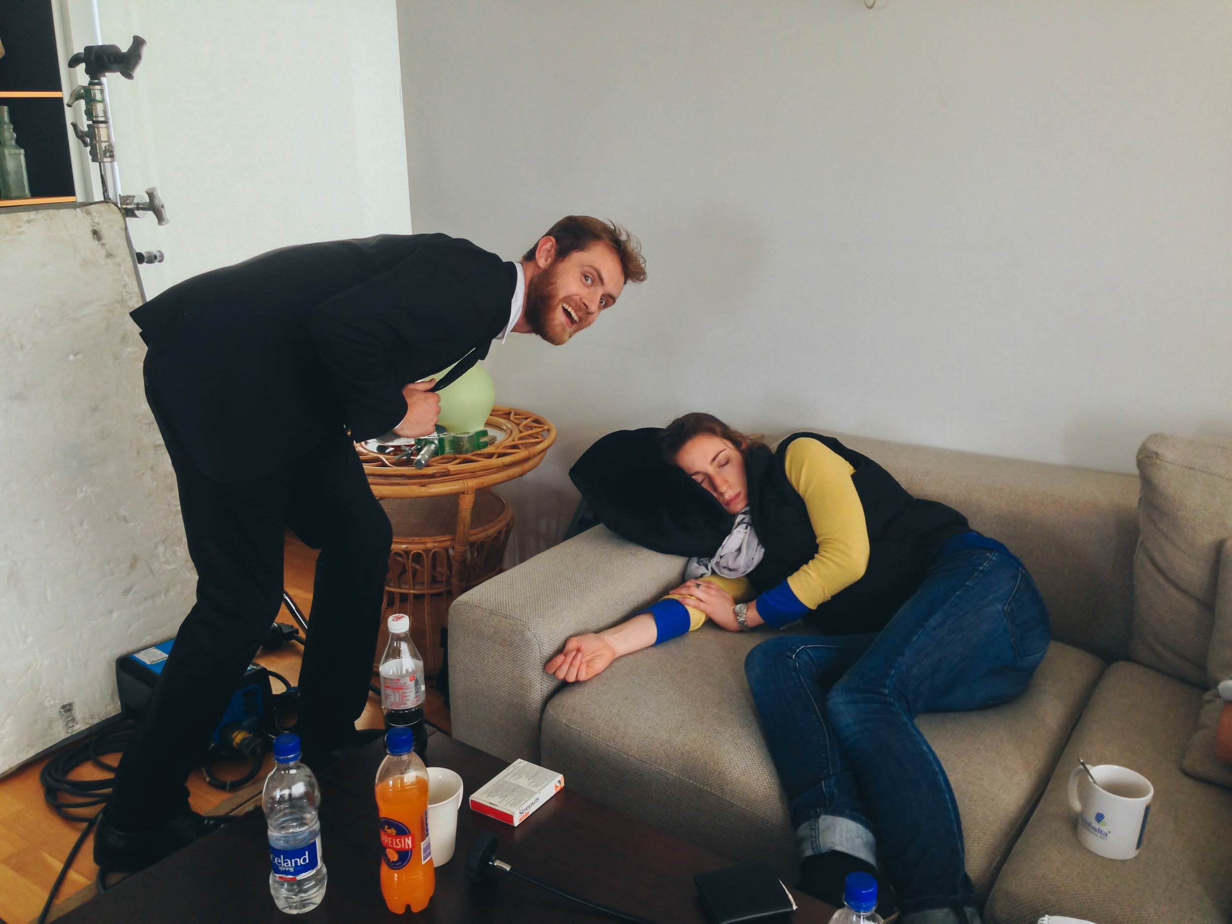 brie was a superwoman on this trip and slept on average 3 hours a night, however matt couldn't resist this opportunity
